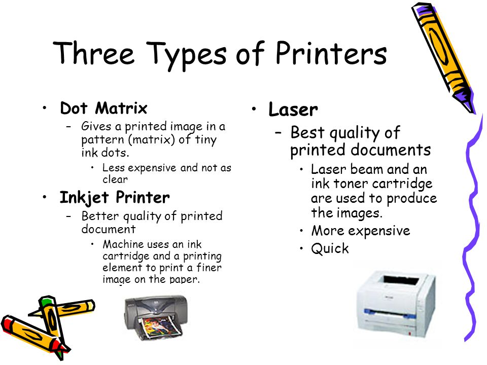 Three Types of Printers