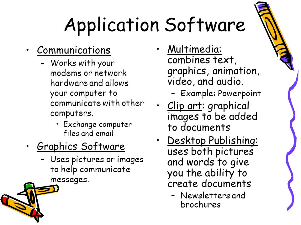 Application Software Communications Graphics Software