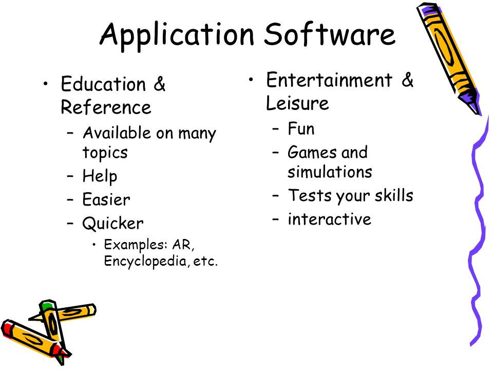 Application Software Entertainment & Leisure Education & Reference Fun