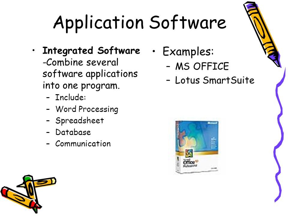 Application Software Examples: