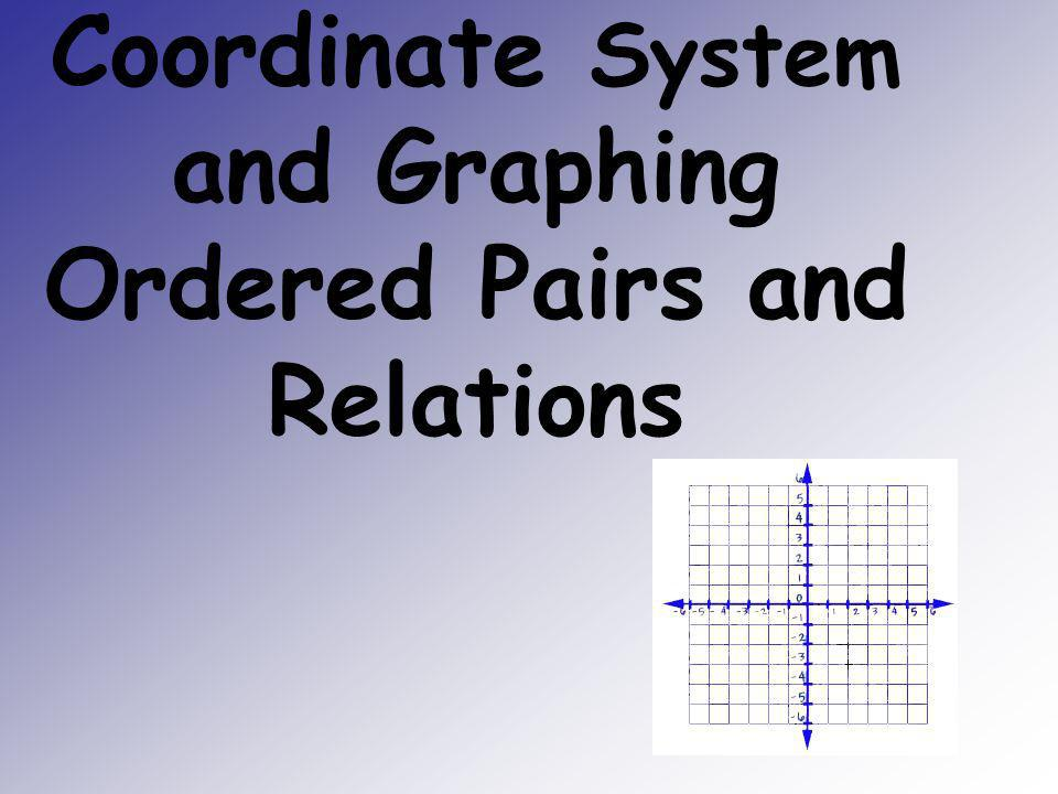 Coordinate System and Graphing Ordered Pairs and Relations