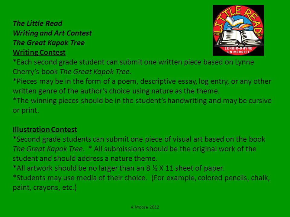 The Little Read Writing and Art Contest The Great Kapok Tree