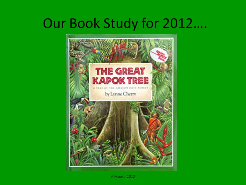 Our Book Study for 2012…. A Moose 2012