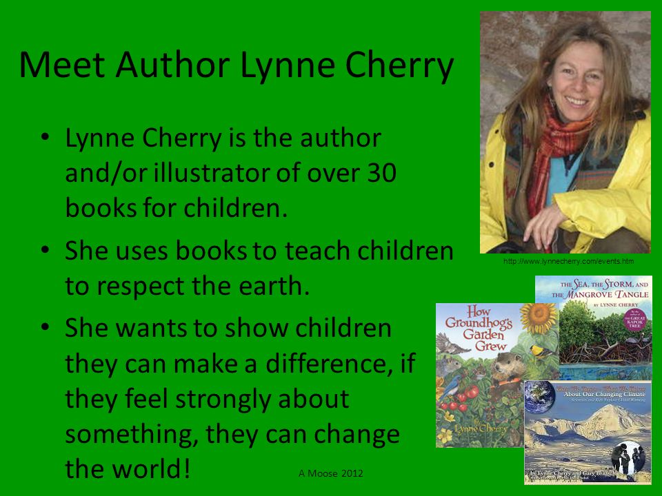 Meet Author Lynne Cherry