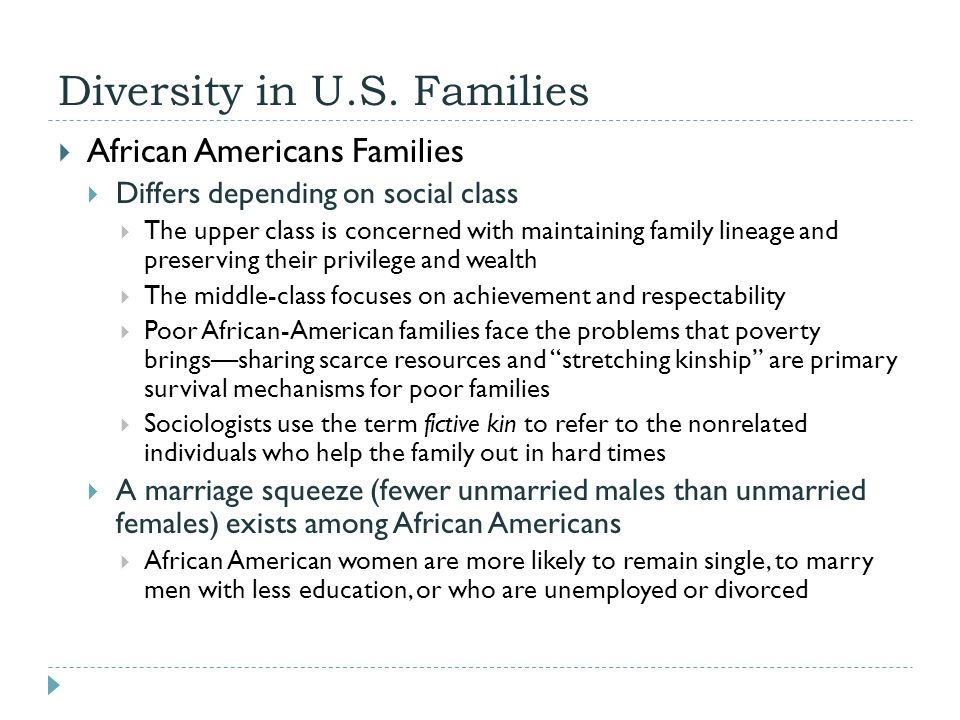 diversity in american families Census bureau report: evaluation report covering disability (january 2007) - testing done in the 2006 american community survey (acs) (pdf, census bureau's 2006 acs content test report series, report  families and marital status see also women, including additional tables on  the diversity of hispanics in the us work force (august.
