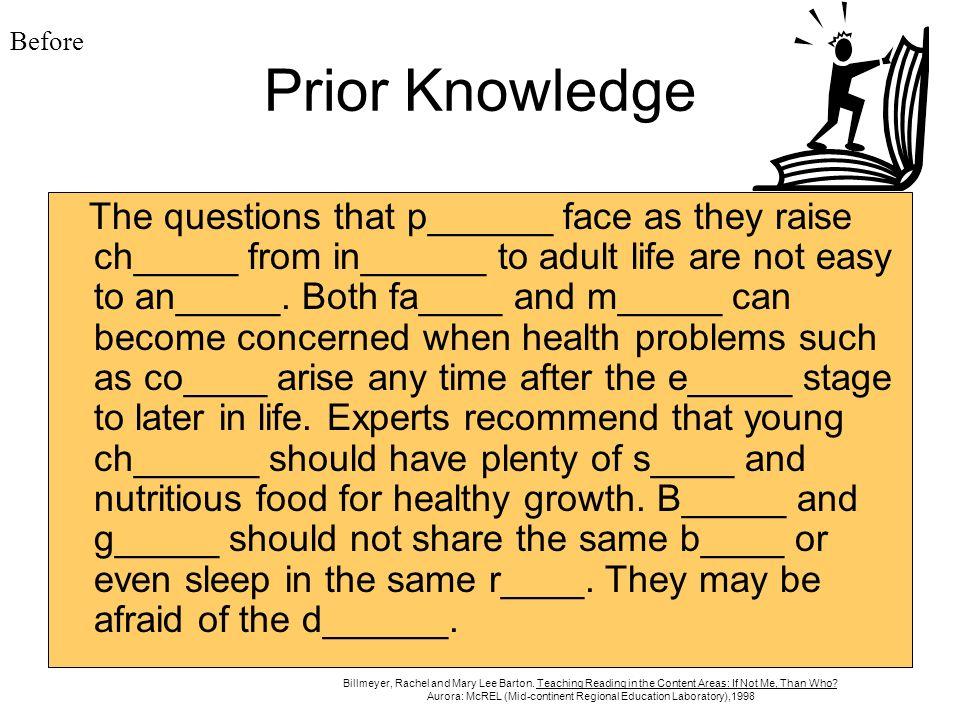 BeforePrior Knowledge.