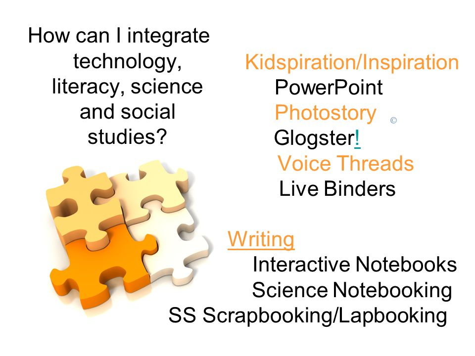 How can I integrate technology, literacy, science and social studies