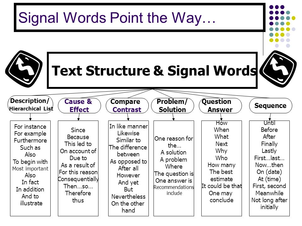 Signal Words Point the Way…