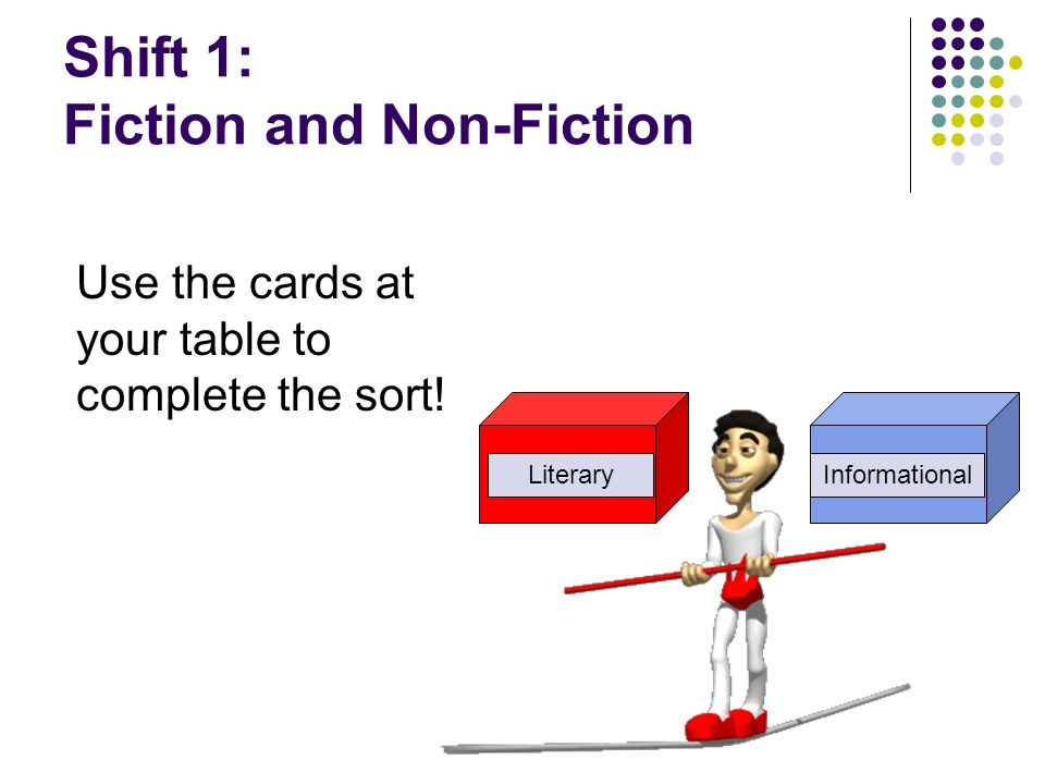 Shift 1: Fiction and Non-Fiction
