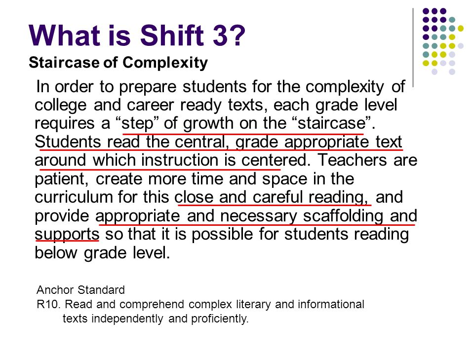 What is Shift 3 Staircase of Complexity