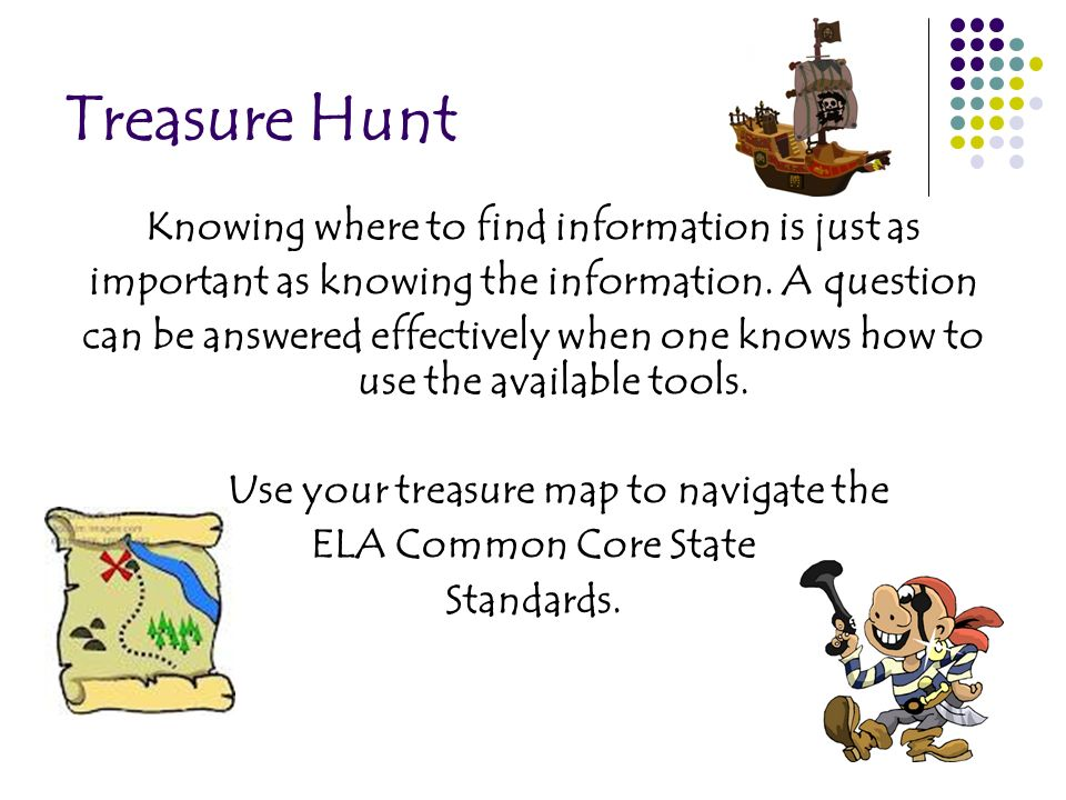 Treasure Hunt Knowing where to find information is just as