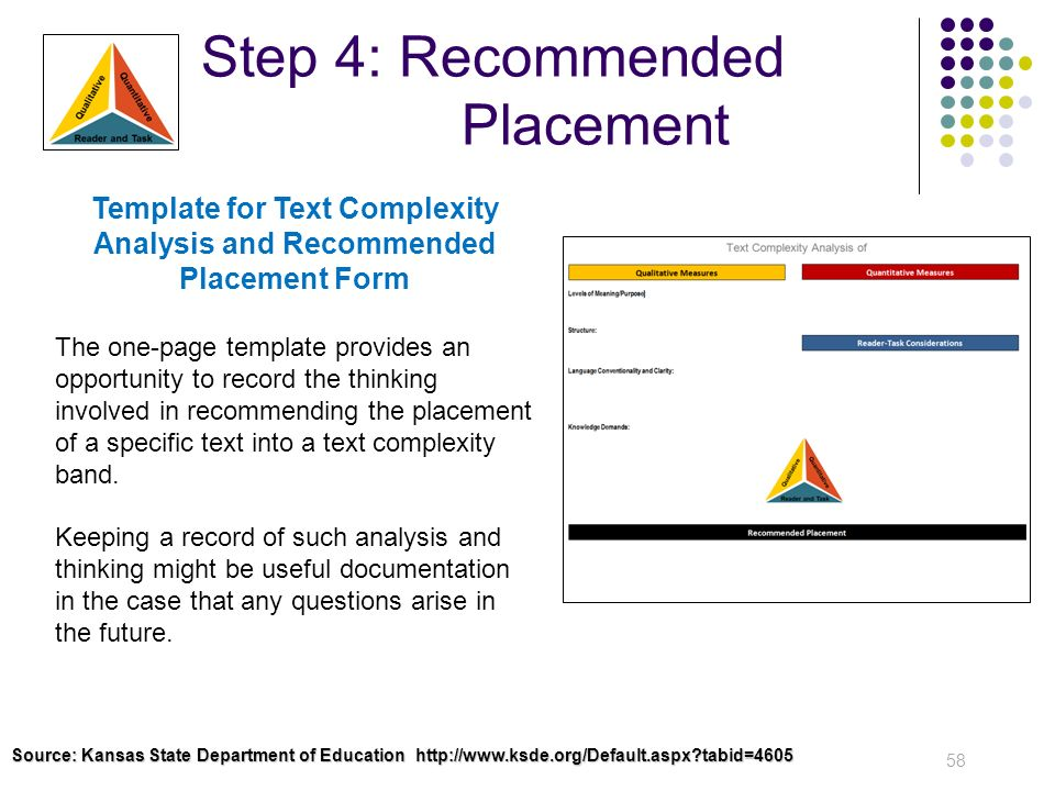 Step 4: Recommended Placement