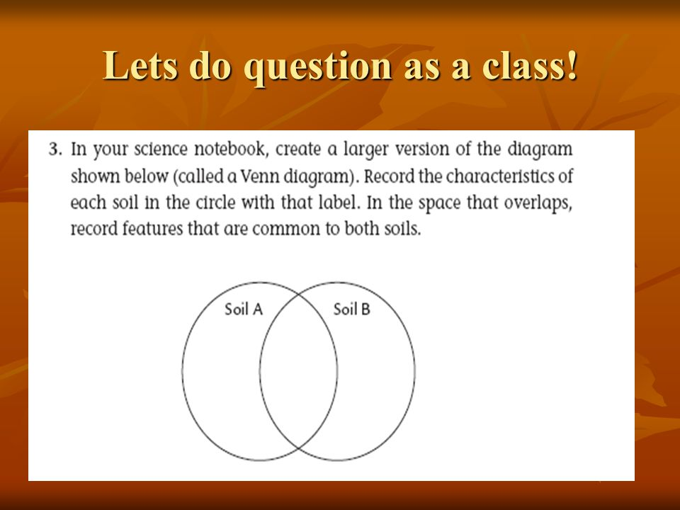 Lets do question as a class!