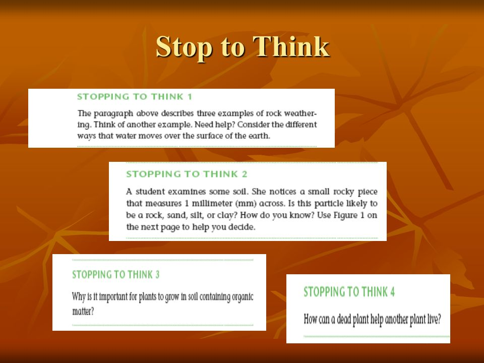 Stop to Think