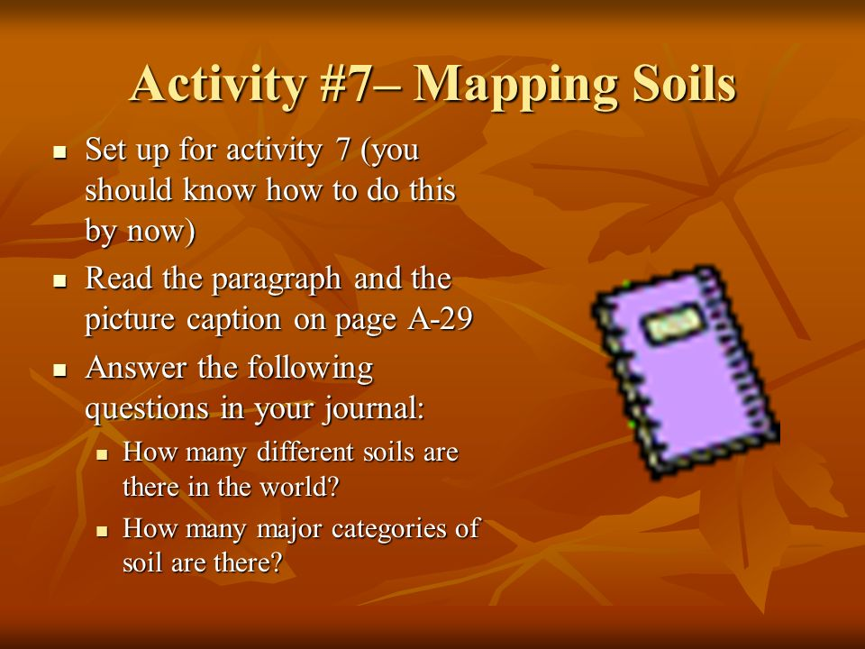 Activity #7– Mapping Soils