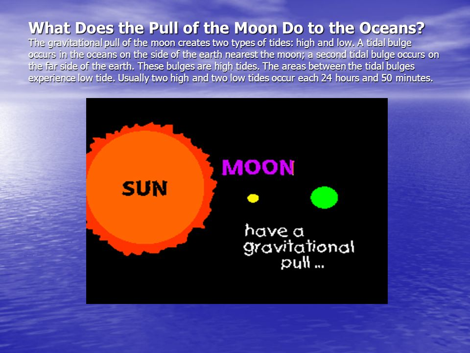 What Does the Pull of the Moon Do to the Oceans