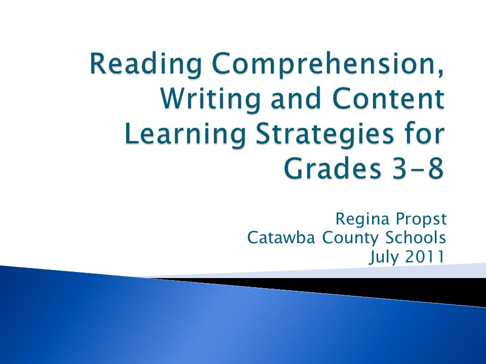 Regina Propst Catawba County Schools July 2011