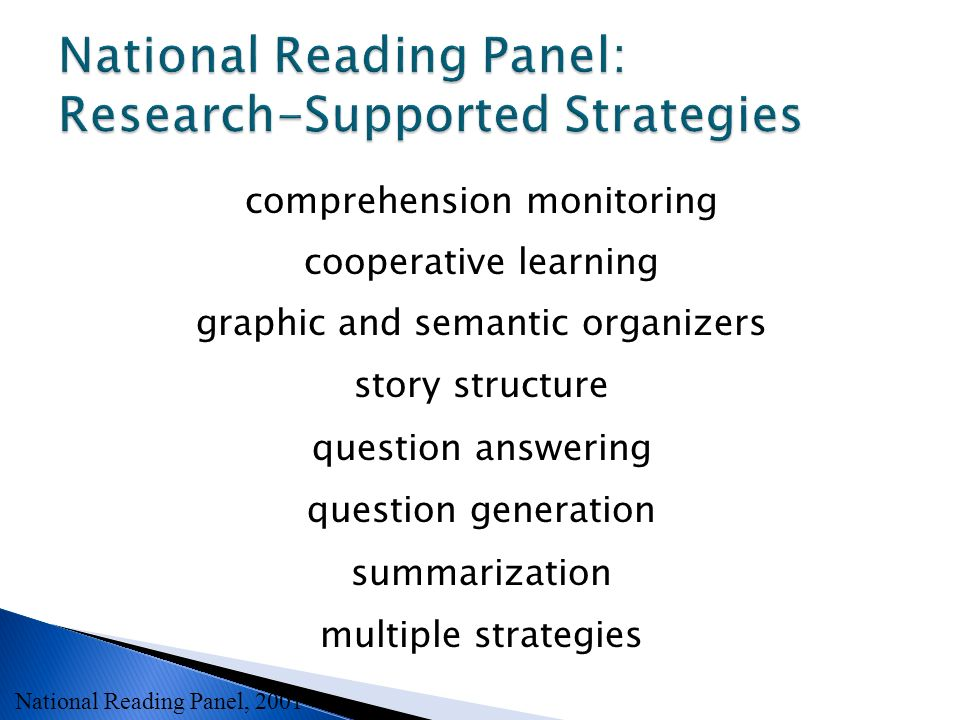 National Reading Panel: Research-Supported Strategies