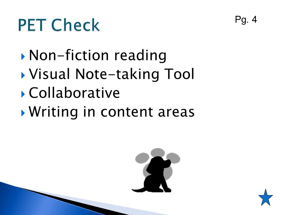 PET Check Non-fiction reading Visual Note-taking Tool Collaborative