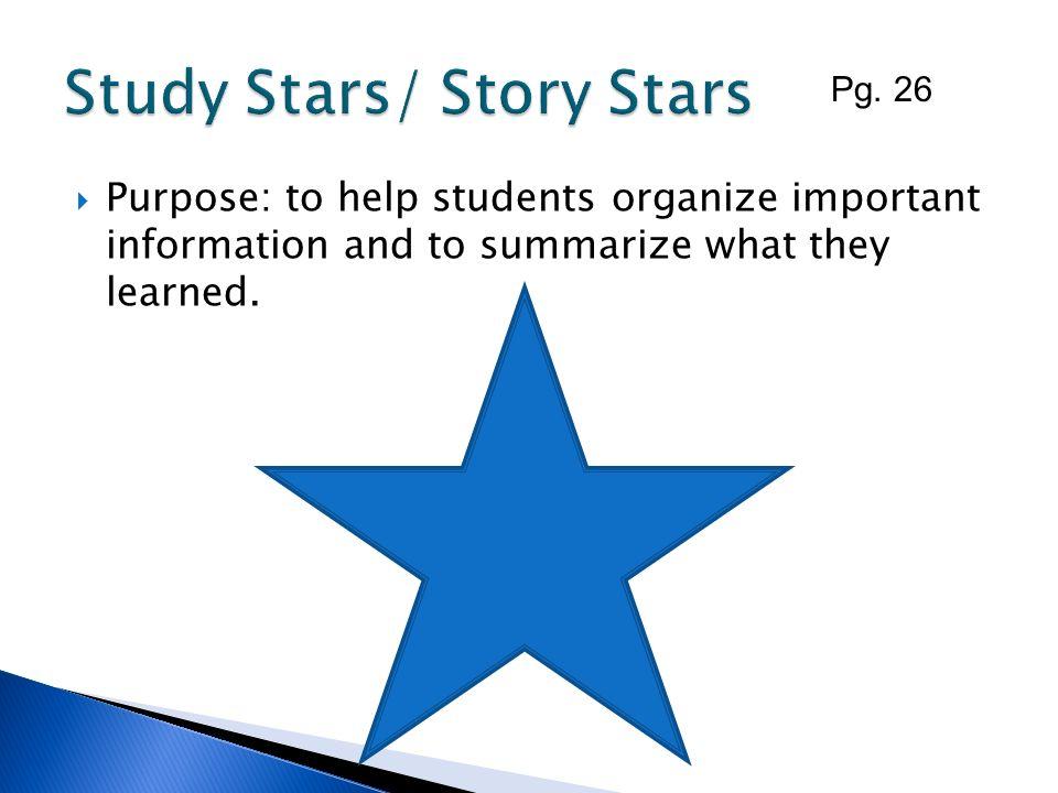 Study Stars/ Story Stars