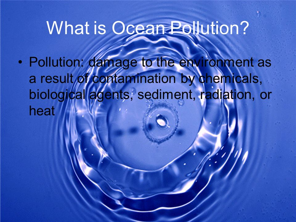 What is Ocean Pollution