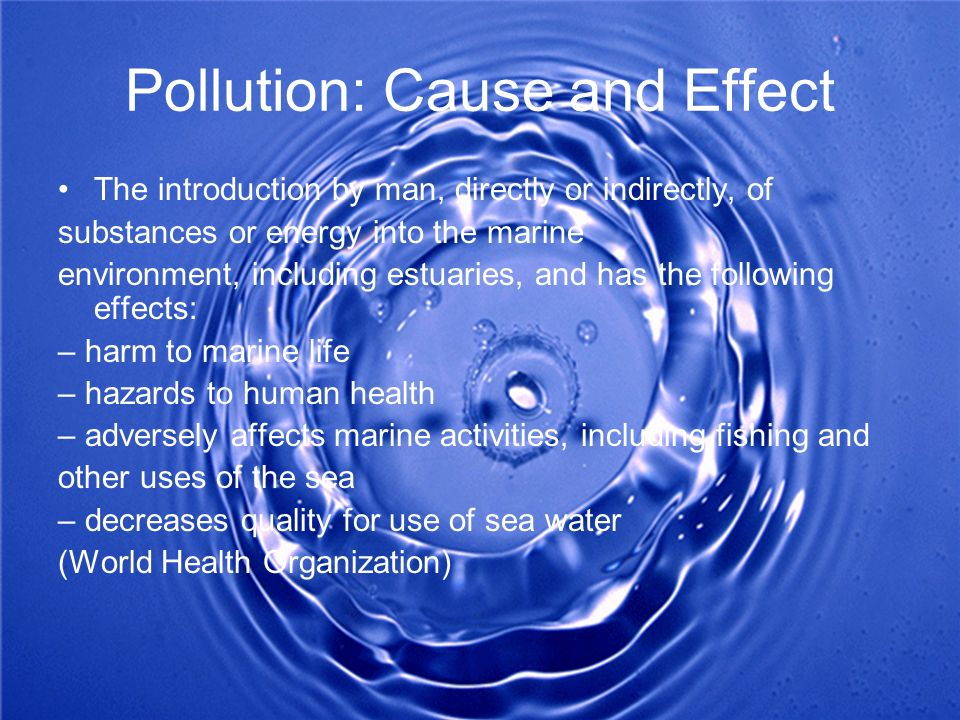 Pollution: Cause and Effect