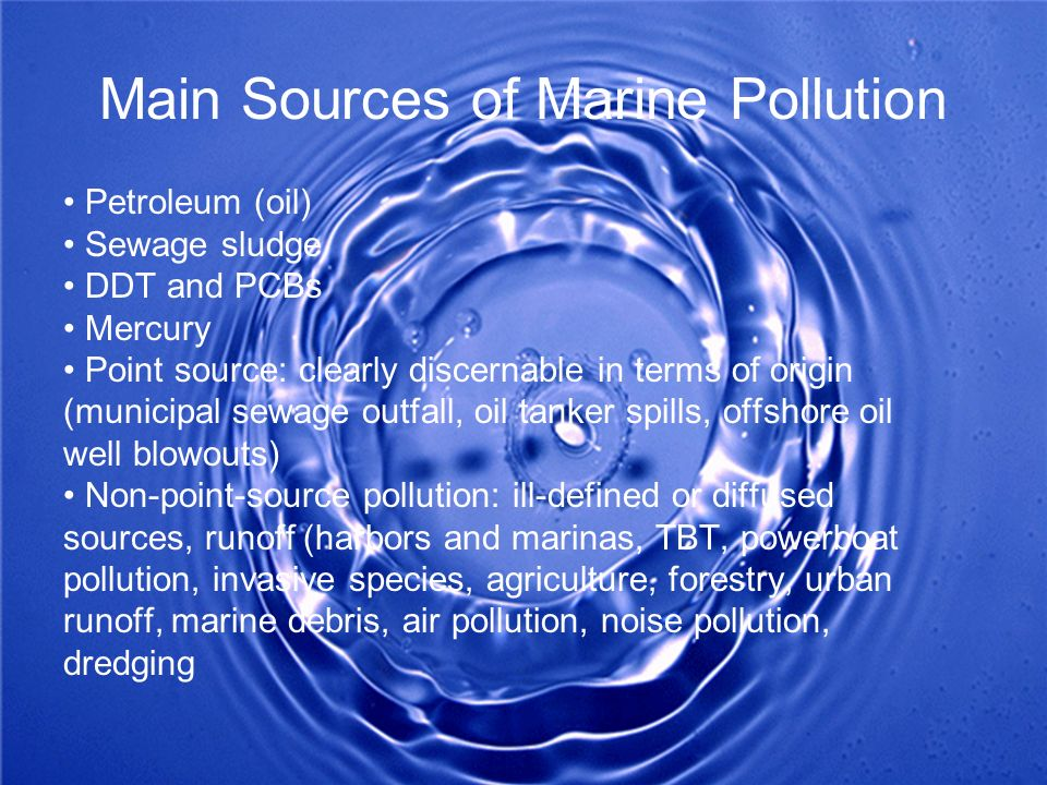 Main Sources of Marine Pollution