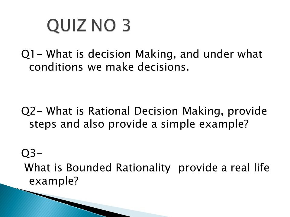bounded rationality a personal case Our rationality is limited by the in most cases we will be better served by recognizing our bounded rationality and making amendments to our decision-making.