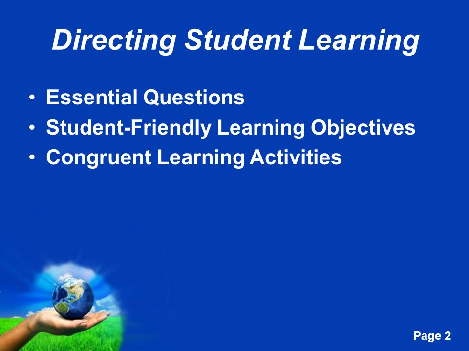 Directing Student Learning