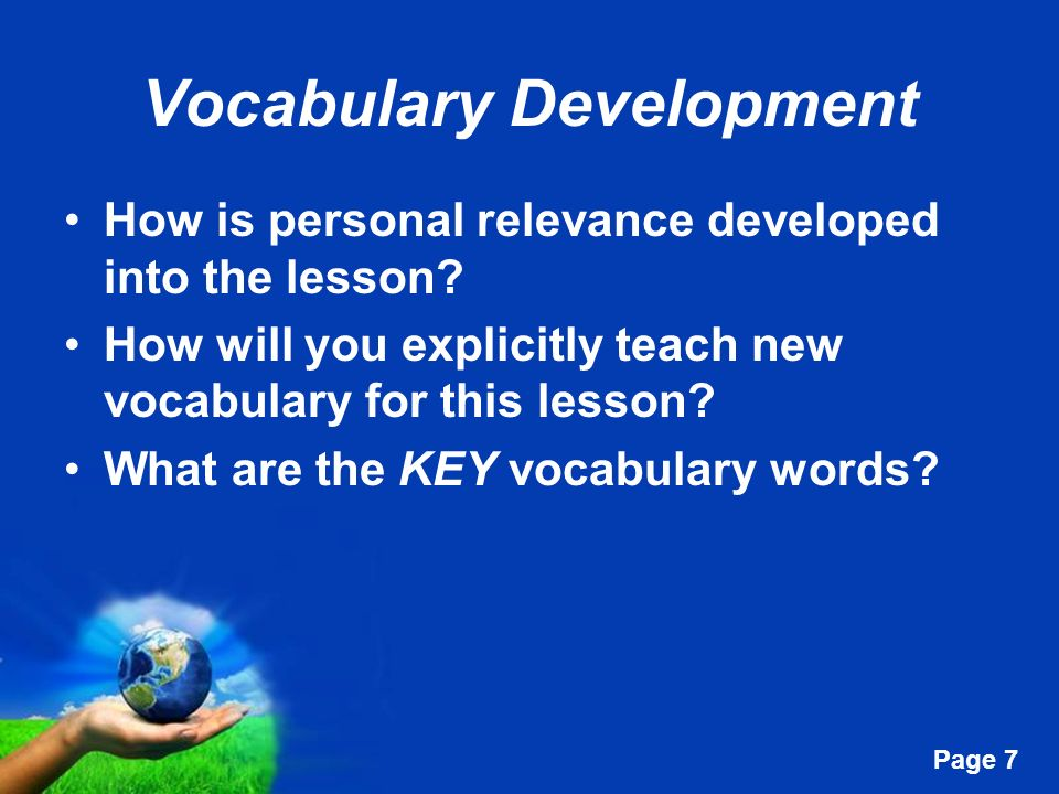 Vocabulary Development