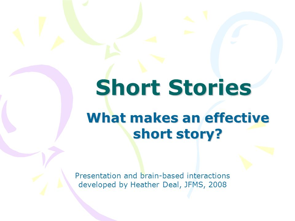 What makes an effective short story