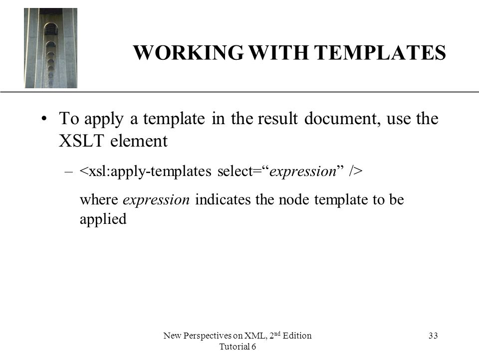 apply templates select