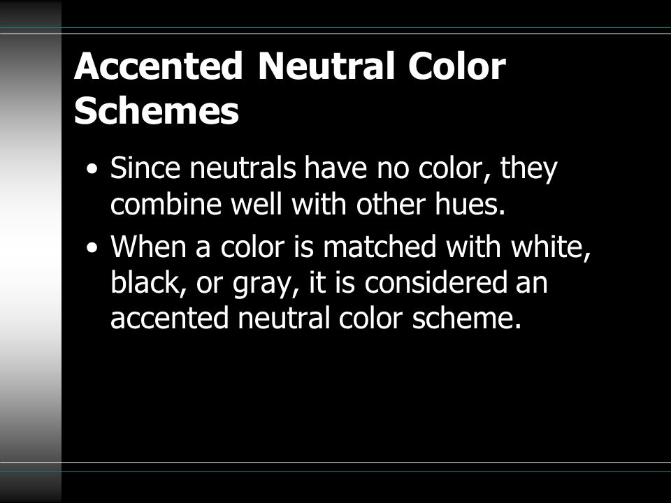 Accented Neutral Color Schemes