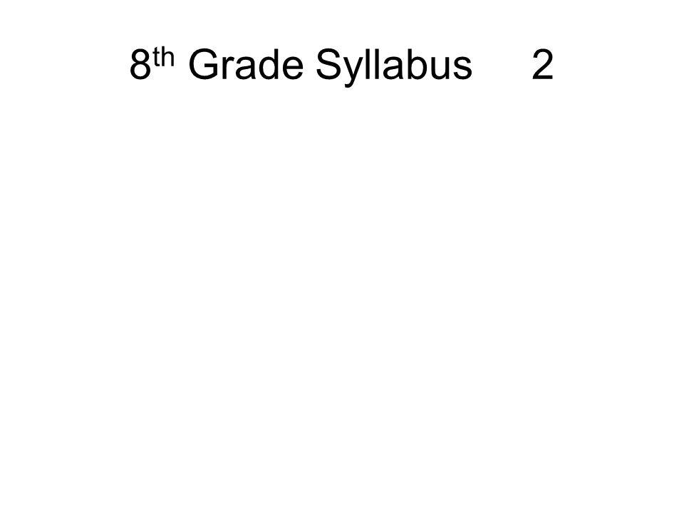 8th Grade Syllabus 2