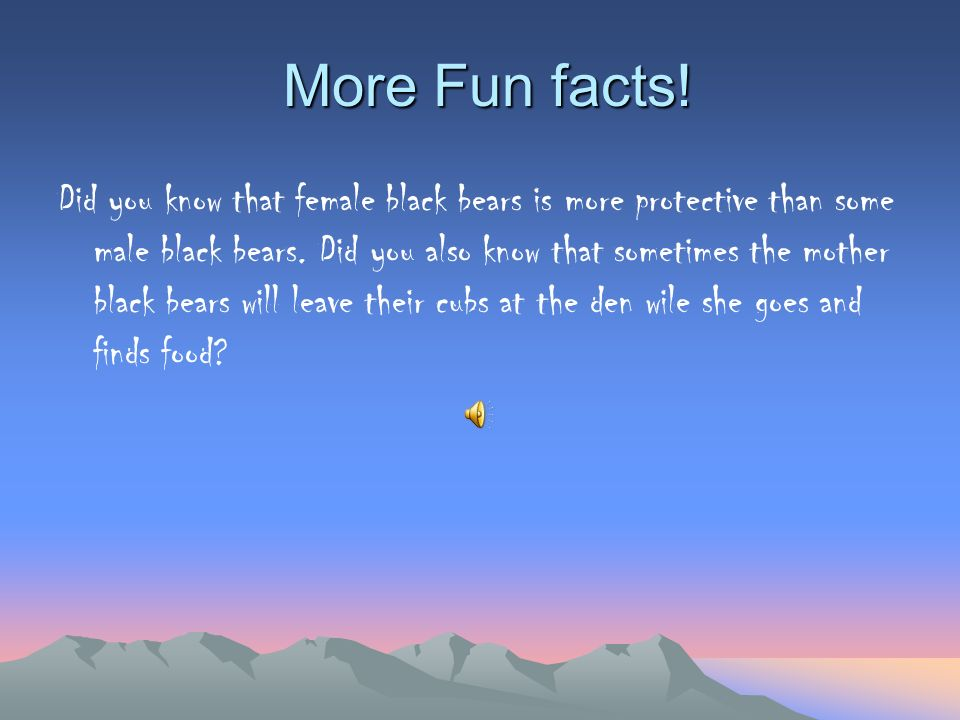 More Fun facts!