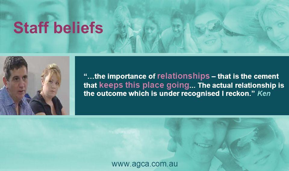 Staff beliefs www.agca.com.au