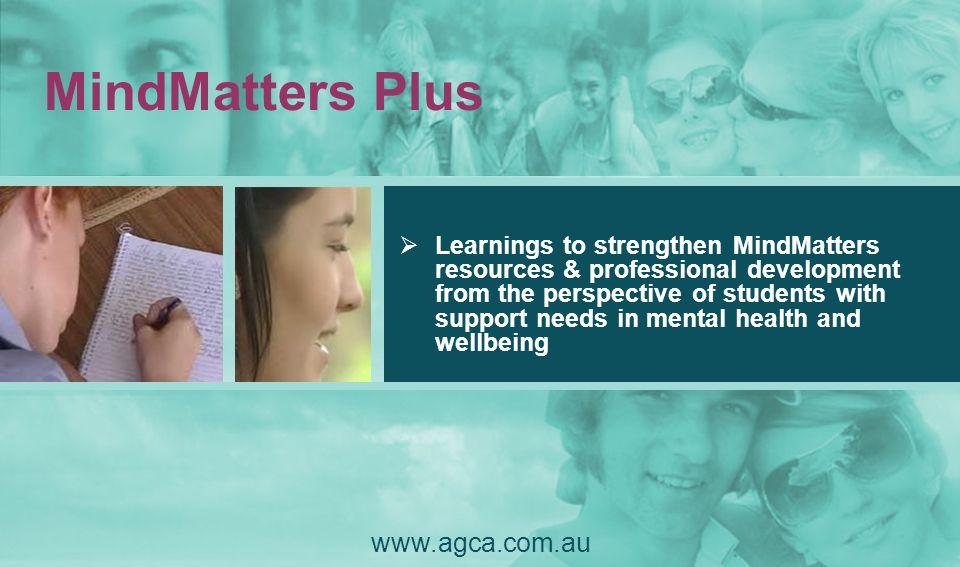 MindMatters Plus www.agca.com.au