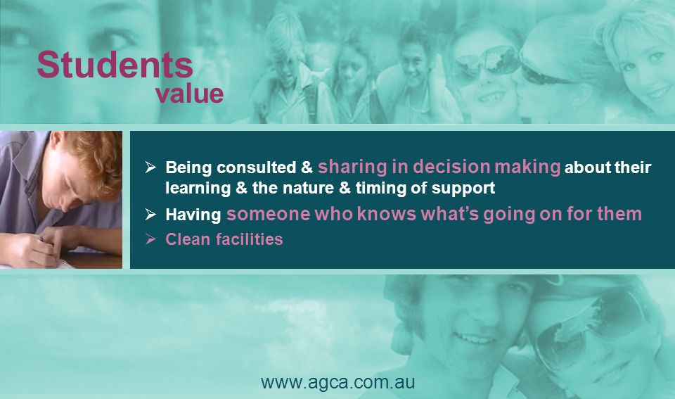 Students value www.agca.com.au