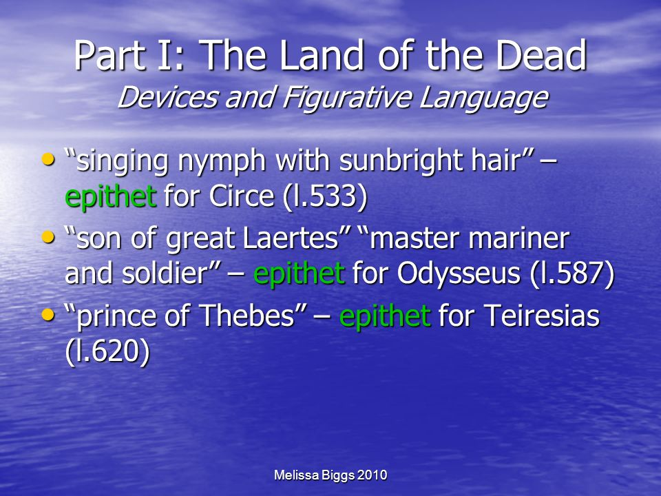 Part I: The Land of the Dead Devices and Figurative Language