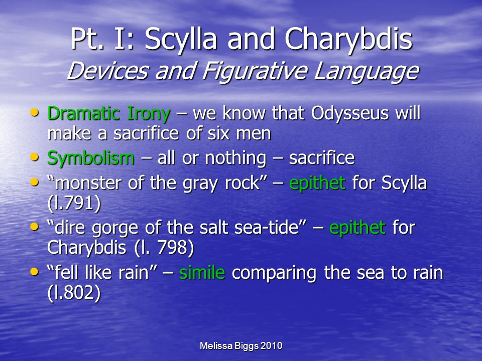 Pt. I: Scylla and Charybdis Devices and Figurative Language
