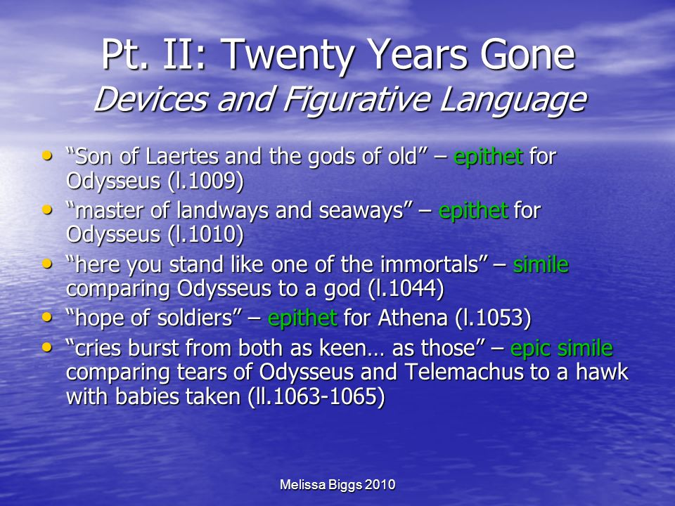 Pt. II: Twenty Years Gone Devices and Figurative Language