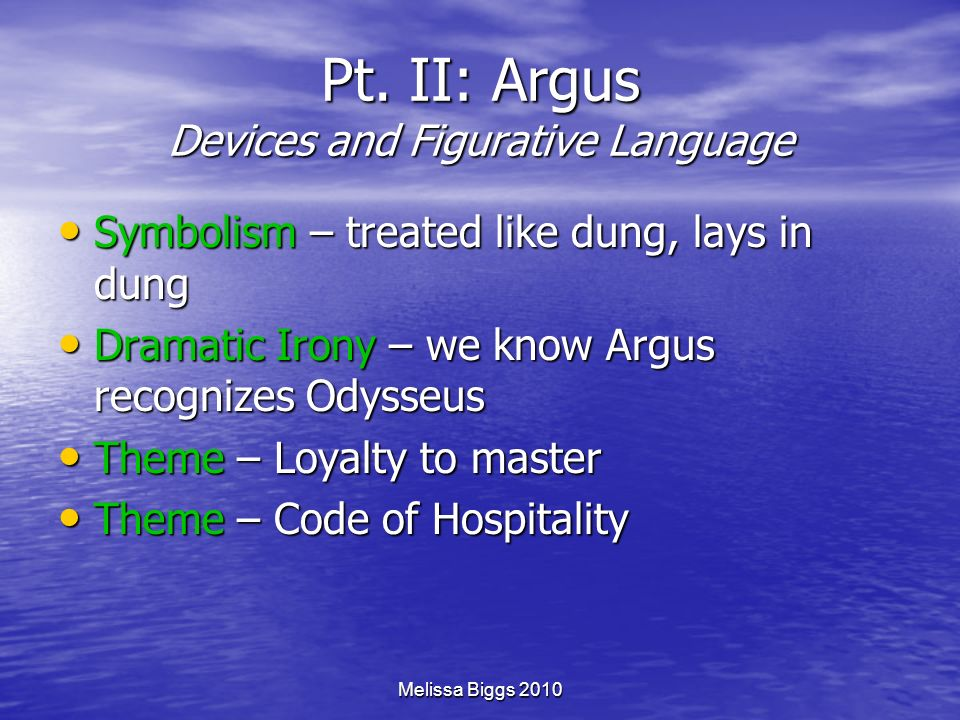Pt. II: Argus Devices and Figurative Language