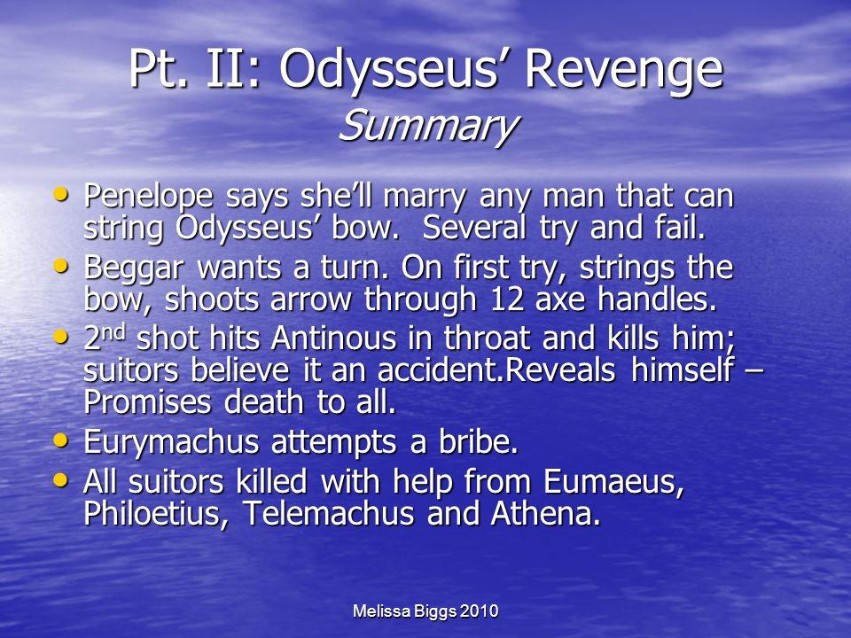 Pt. II: Odysseus' Revenge Summary