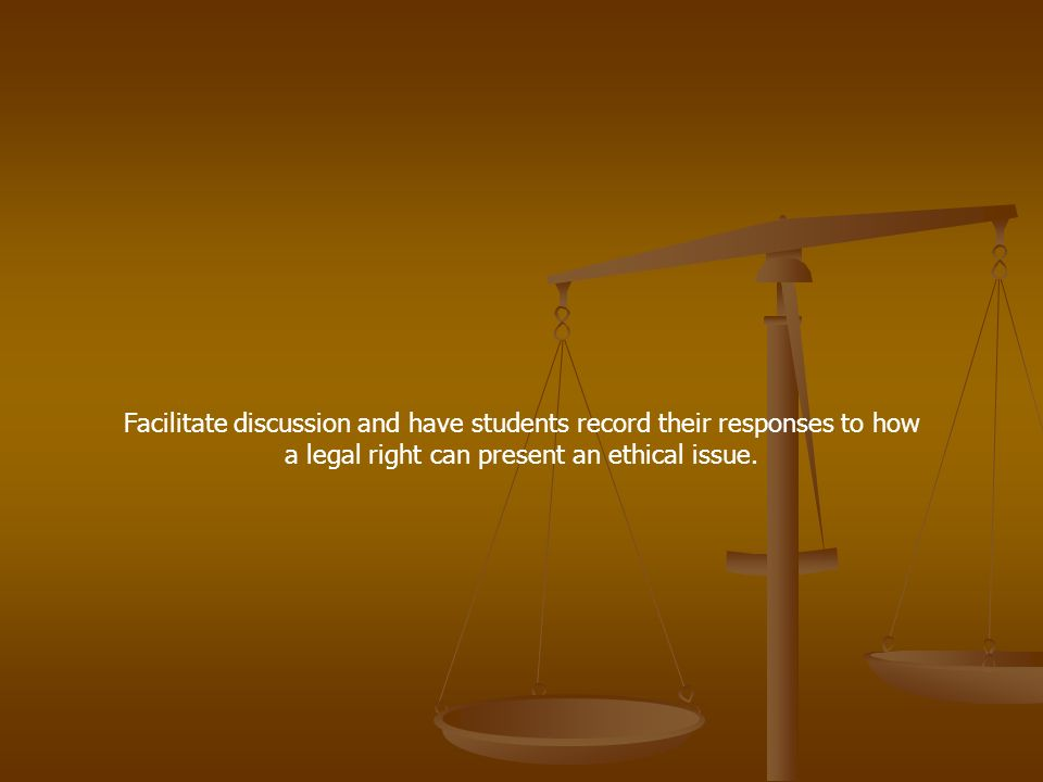 Facilitate discussion and have students record their responses to how