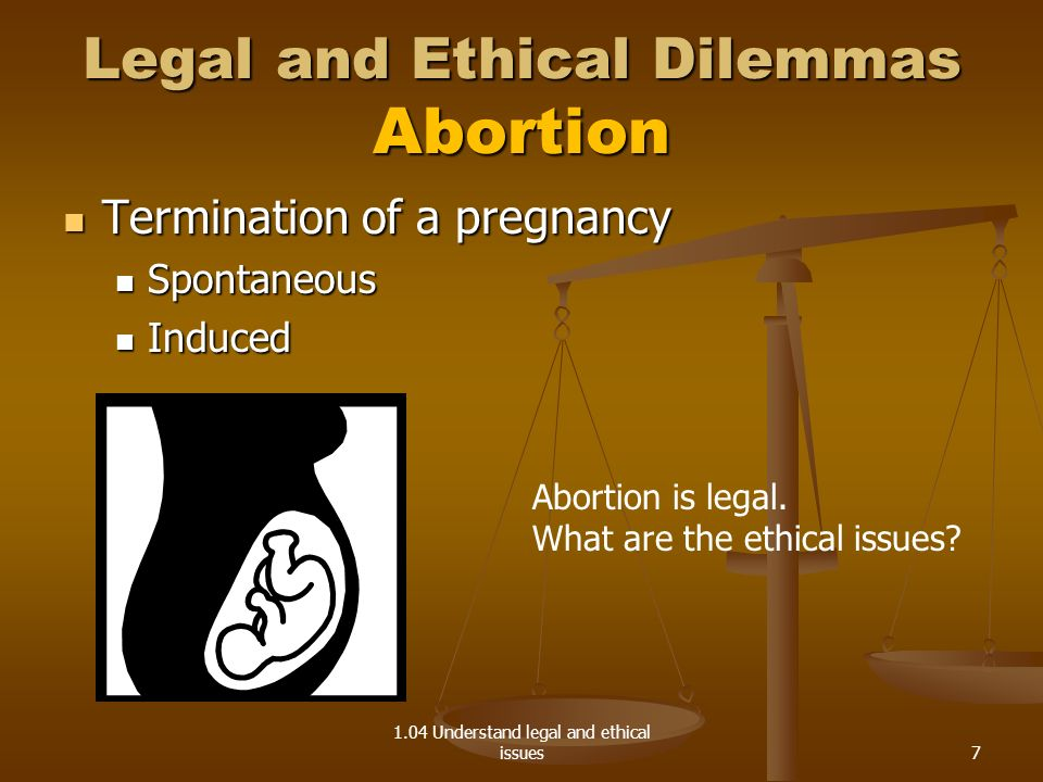 Legal and Ethical Dilemmas Abortion