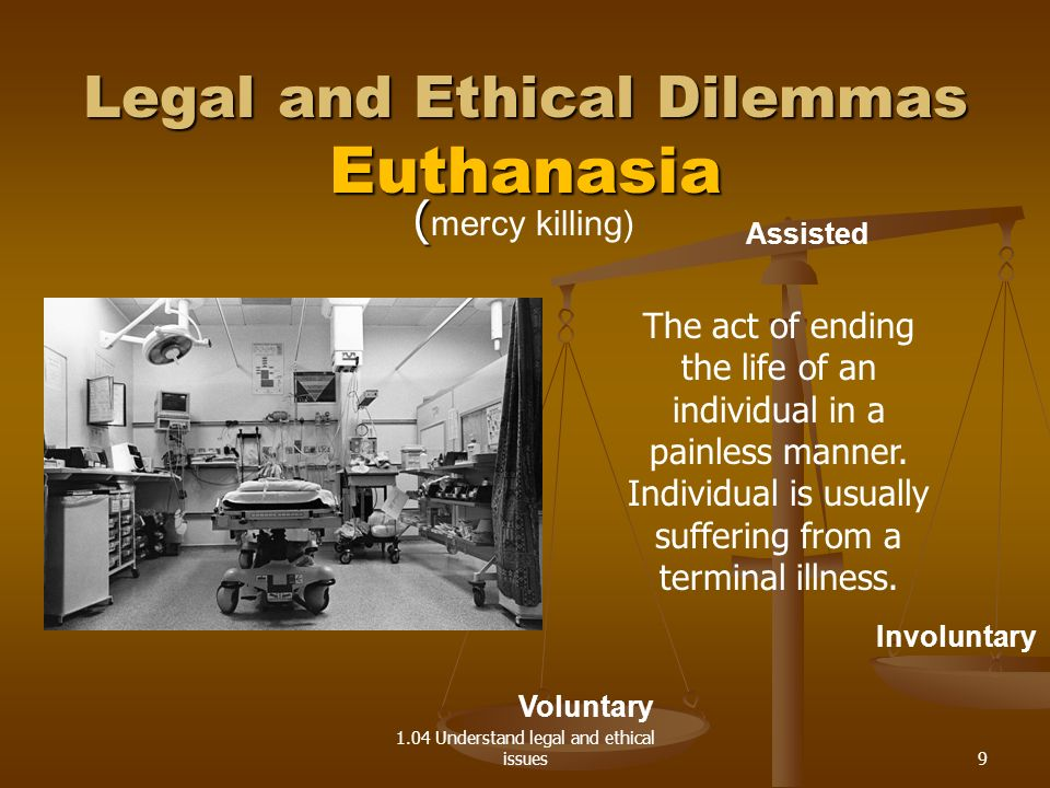 Legal and Ethical Dilemmas Euthanasia