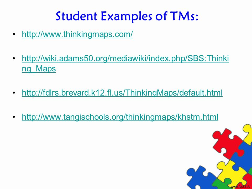 Student Examples of TMs: