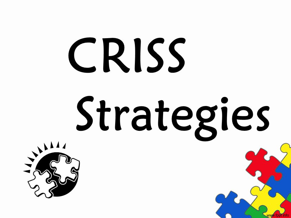 CRISS Strategies Labe middle tab (third from top) as CRISS Strategies