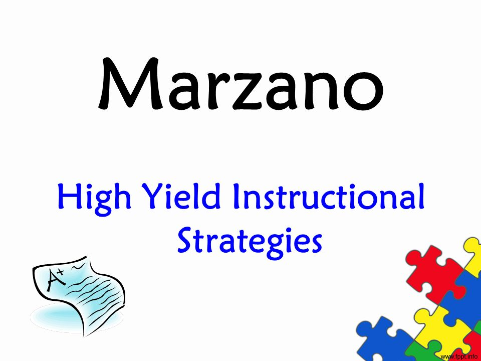 High Yield Instructional Strategies