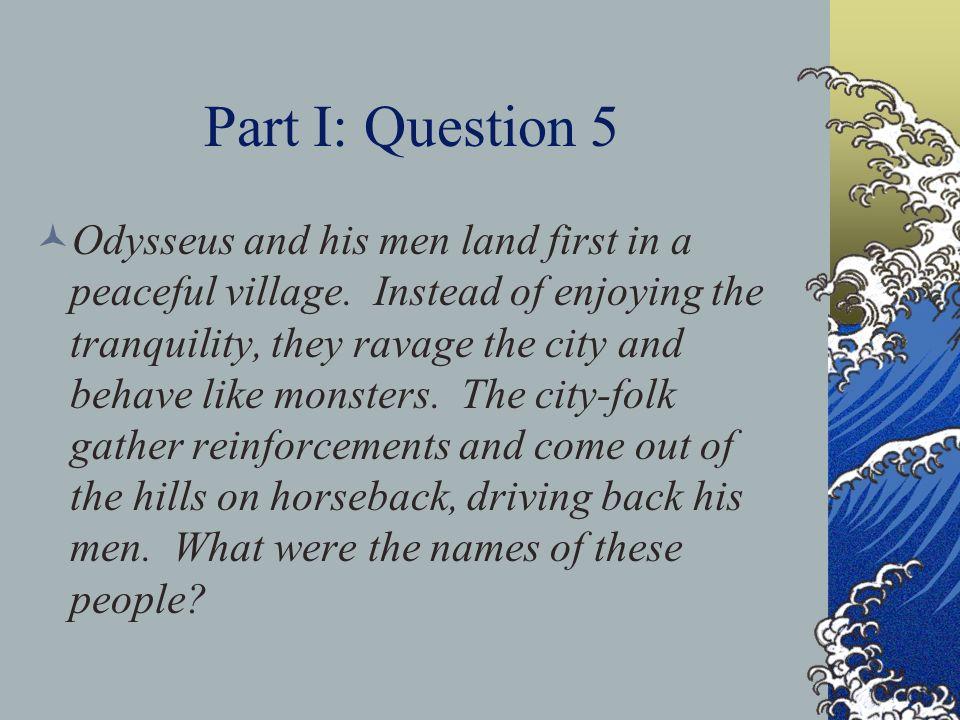 Part I: Question 5